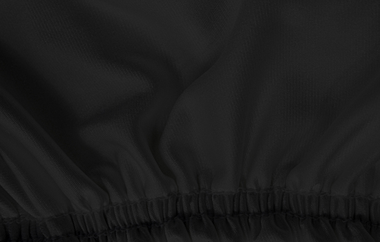 satin stretch black elastic cover