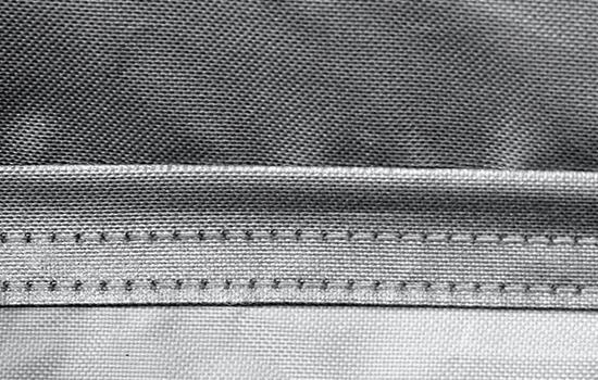 silverguard custom cover stiching