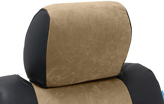 alcantara custom seat covers headrest