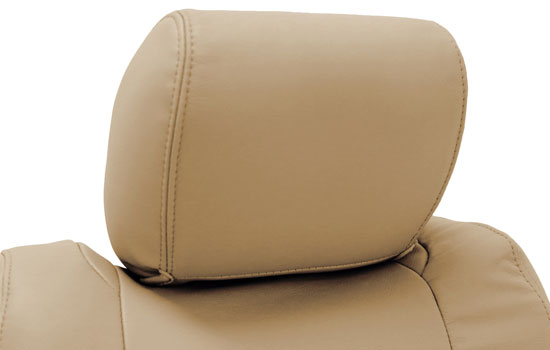 genuine leather custom seat covers headrest