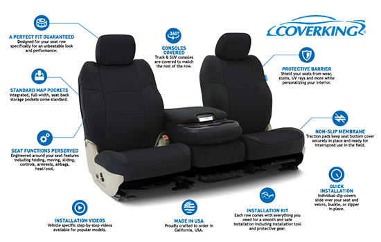 neoprene custom seat covers features