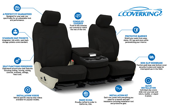 polycotton drill custom seat covers features