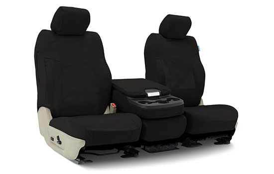polycotton drill custom seat covers folded