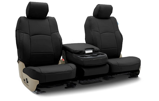 premium leatherette custom seat covers folded
