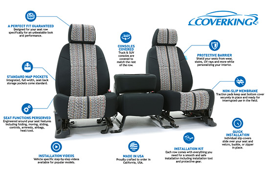 saddle blanket custom seat covers features