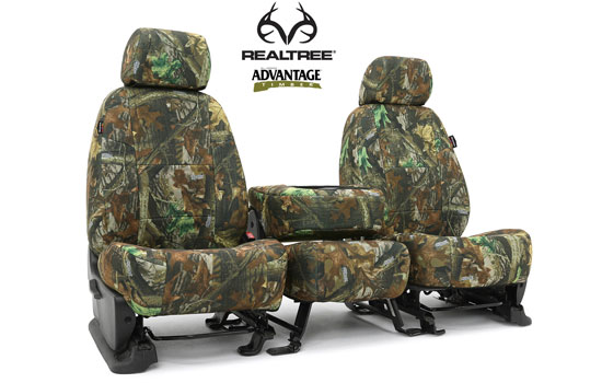 realtree custom seat covers folded