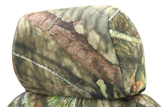 mossy oak custom seat covers headrest