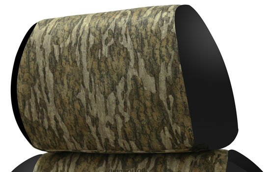 mossy oak custom seat covers headrest