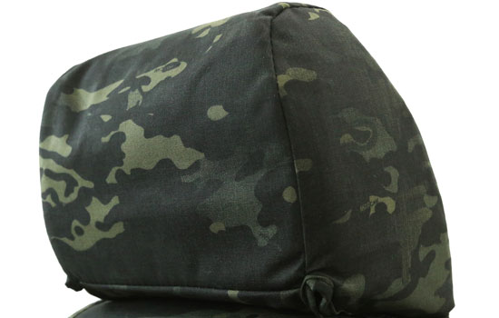 multicam custom seat covers headrest