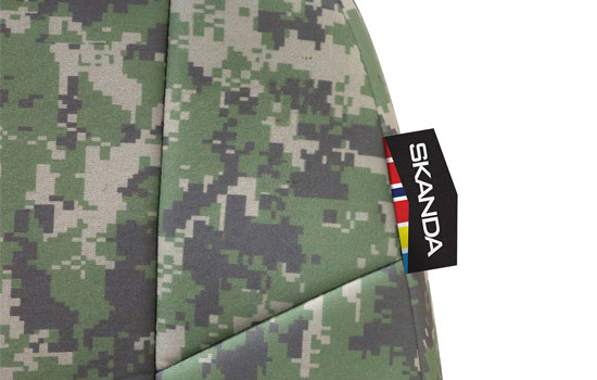digital camo custom seat covers tag