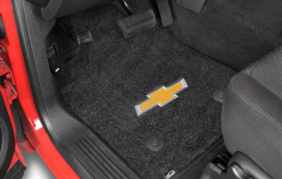 Chevy Bowtie Logo Ultimat Mats Ebony Driver