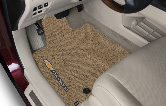 Chevy Sideways Berber Car Mats Tan Heathered Driver