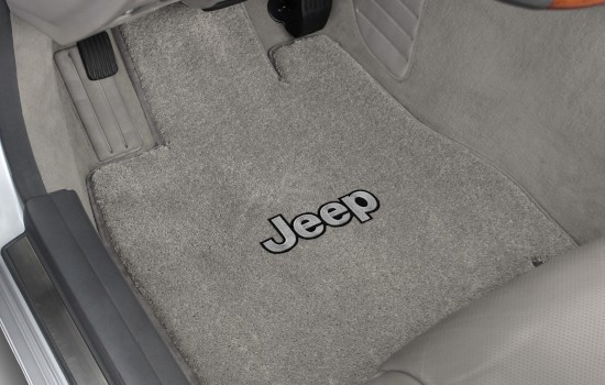 Jeep Silver Luxe Mats Grey Driver