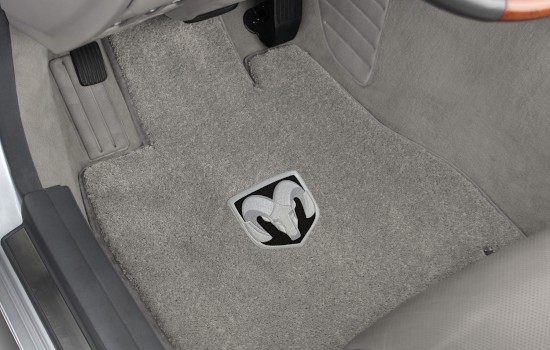 Ram Head Luxe Mats Grey Driver