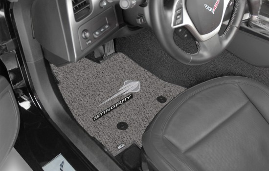 Stingray Double Berber Car Mats Grey Heathered Driver